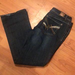 LEI bootcut Ashley low rise jeans sz 15 nice